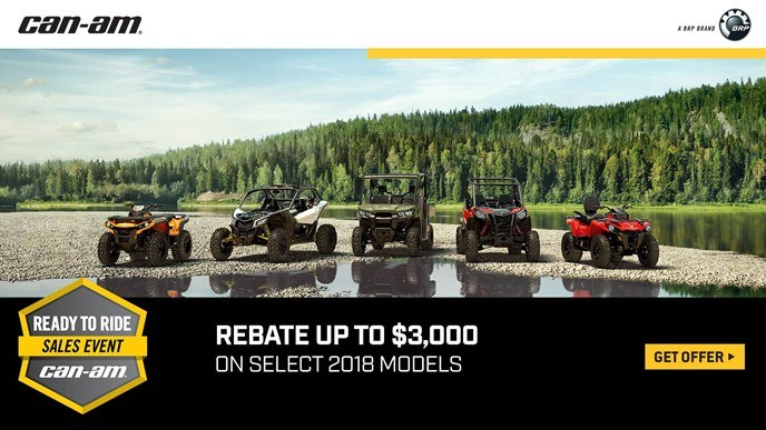 Can-Am - Ready To Ride Sales Event - All Maverick X3, Maverick, Commander, Renegade and Outlander Offers